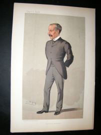 Vanity Fair Print: 1893 James Sivewright, Architect